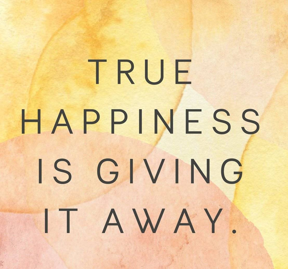 True happiness is in giving !!!