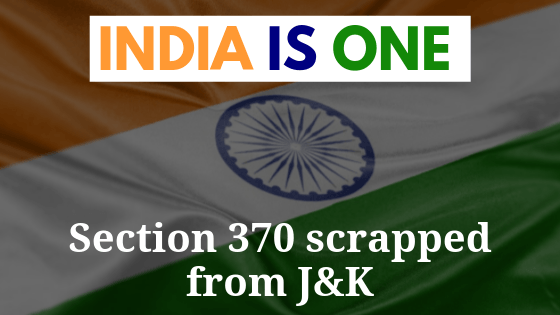 #BharatEkHai – 1st Revolutionary Day for Independent India arrives here, Govt scraps Article 370