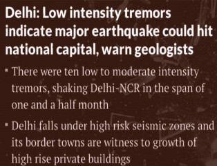 Earthquake, DelhiNCR