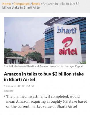 India, Telecom, Facebook, Amazon, Google, Jio, Airtep